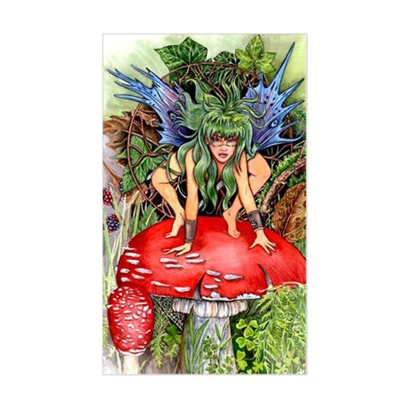 green faerie Sticker (Rectangle)