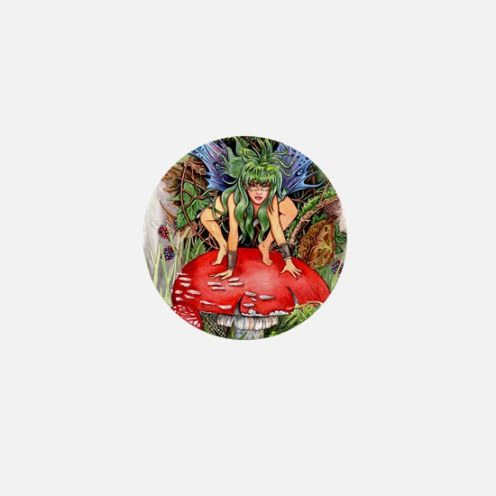 green faerie Mini Button