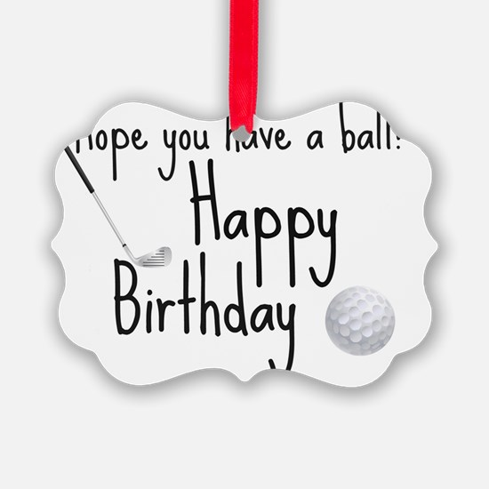 HB Golfer inside card Ornament