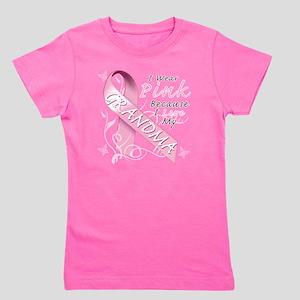 I Wear Pink Because I Love My Grandma Girl's Tee