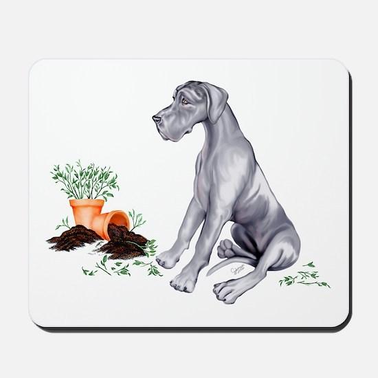 Blue UC Naughty Pup Mousepad
