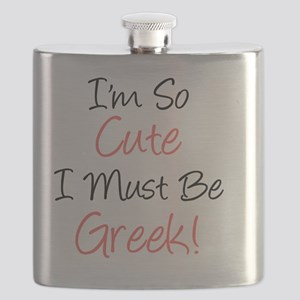 Im So Cute Greek Flask