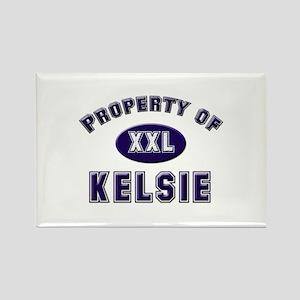 Property of kelsie Rectangle Magnet