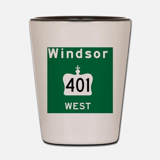 Windsor 401 Rec Mag Shot Glass