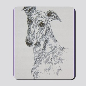 Greyhound_Black_KlineSq Mousepad