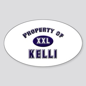 Property of kelli Oval Sticker