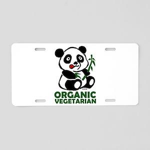 Organic vegetarian Aluminum License Plate