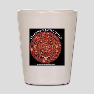 Mayan2012 10x10 copy Shot Glass