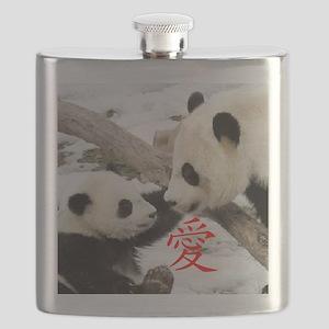 Chinese Love Pandas Flask