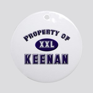 Property of keenan Ornament (Round)