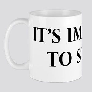 Its Impolite to Stare Mug