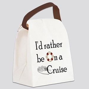 Id Rather Cruise Canvas Lunch Bag