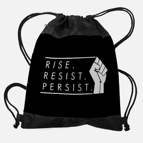 Rise. Resist. Repeat. Drawstring Bag