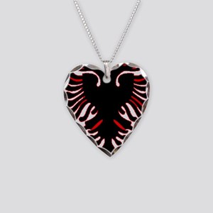 albania-flag Necklace Heart Charm