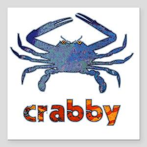 "crabby Square Car Magnet 3"" x 3"""