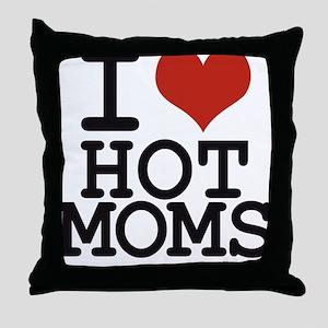 i love hot moms Throw Pillow