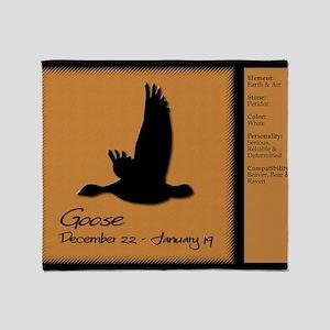 naz_01-goose-f Throw Blanket