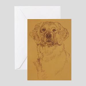 Golden_Retriever_KlineSq Greeting Card