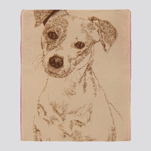 Jack_Russell_Smooth_KlineSq Throw Blanket