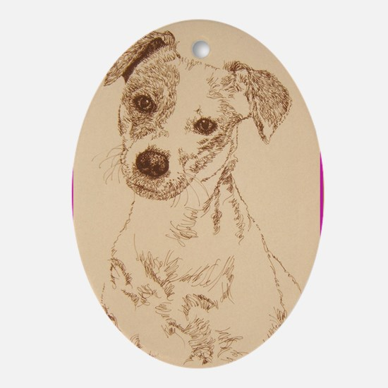 Jack_Russell_Smooth_KlineSq Oval Ornament