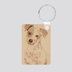 Jack_Russell_Smooth_KlineS Aluminum Photo Keychain