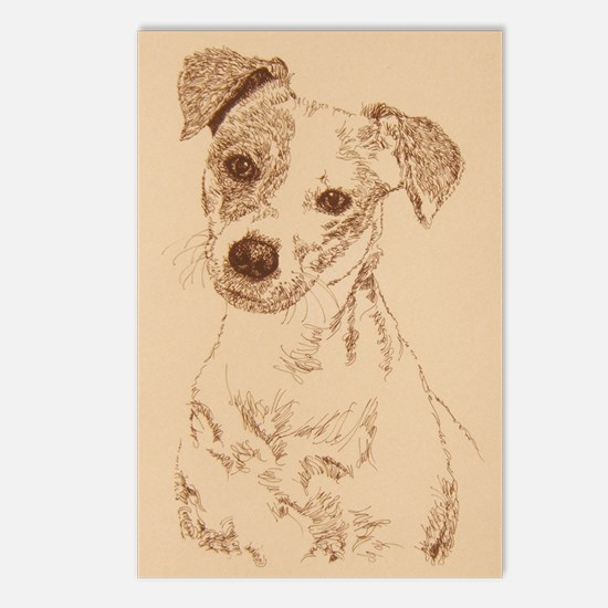Jack_Russell_Smooth_Kline Postcards (Package of 8)