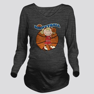 basketballkidfour Long Sleeve Maternity T-Shirt