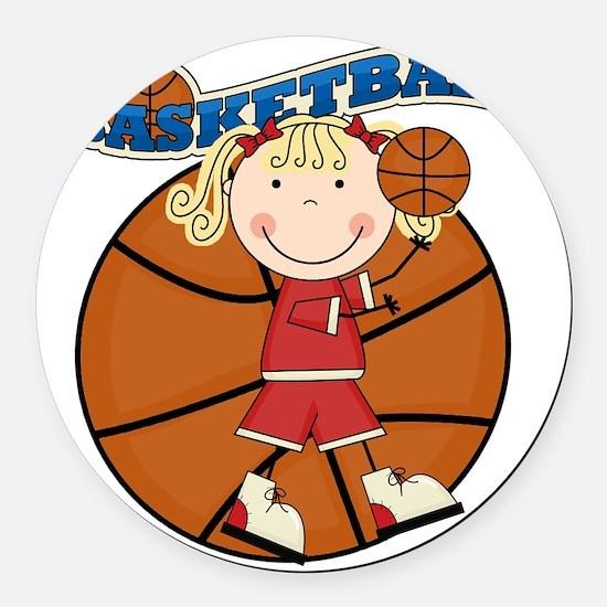 basketballkidfour Round Car Magnet