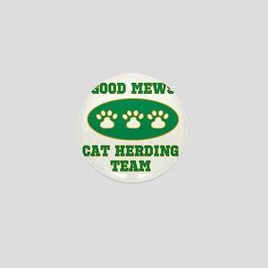 gm cat herding team1 Mini Button
