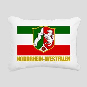 Nordrhein-Westfalen (Fla Rectangular Canvas Pillow