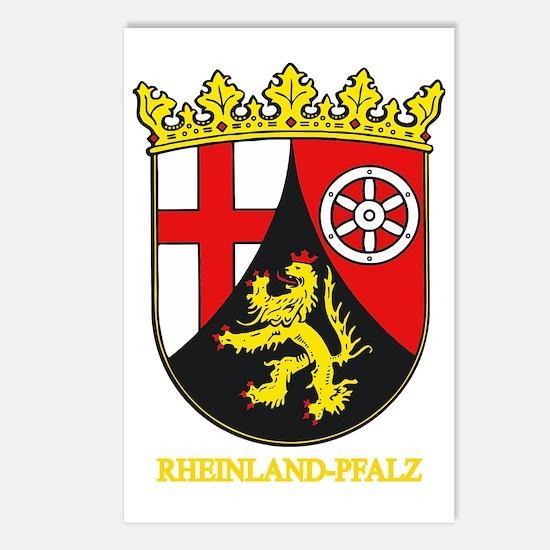 Rheinland-Pfalz (gold) Postcards (Package of 8)