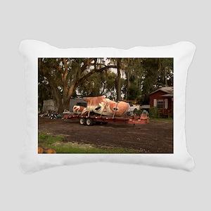 14x10_flatbed_roadkill Rectangular Canvas Pillow