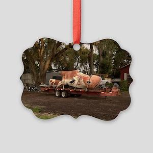 14x10_flatbed_roadkill Picture Ornament