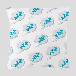 ZZZ Pattern Emoji Woven Throw Pillow