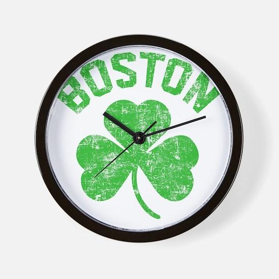 Boston Grunge - dk Wall Clock
