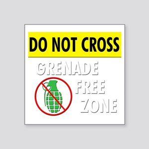 "grenadefreezone3 Square Sticker 3"" x 3"""
