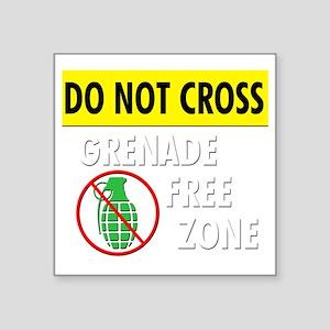 "grenadefreezone3 Square Sticker 3"" x 3"""
