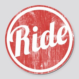 Vintage_Ride Round Car Magnet