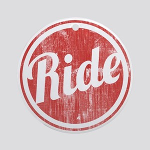 Vintage_Ride Round Ornament