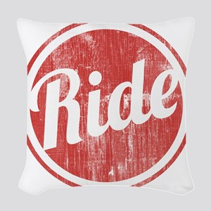 Vintage_Ride Woven Throw Pillow