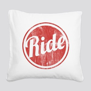 Vintage_Ride Square Canvas Pillow