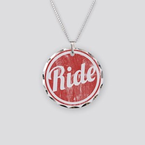 Vintage_Ride Necklace Circle Charm