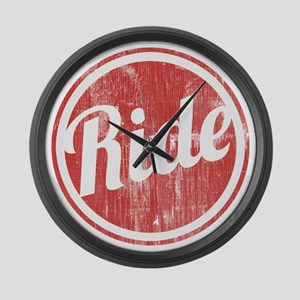 Vintage_Ride Large Wall Clock