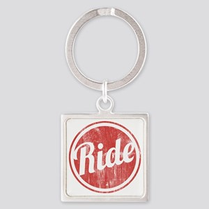 Vintage_Ride Square Keychain