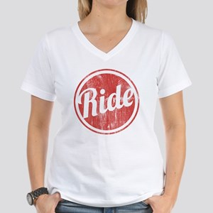 Vintage_Ride Women's V-Neck T-Shirt