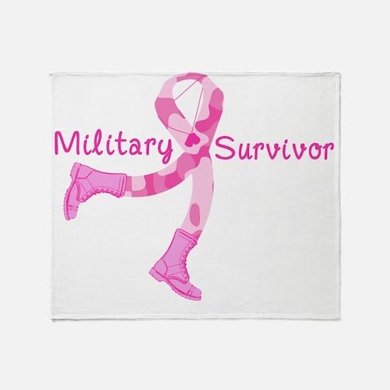 military survivor Throw Blanket