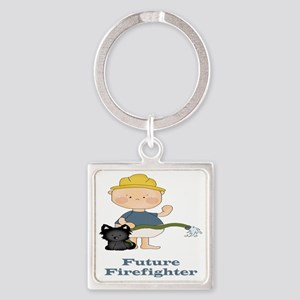 Future Firefighter Square Keychain