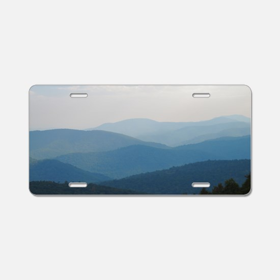Blue Smokey Mountains #02 Aluminum License Plate
