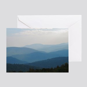 Blue Smokey Mountains #02 Greeting Card