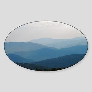 Blue Smokey Mountains #02 Sticker (Oval)
